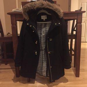 Cole Haan Black Wool Coat